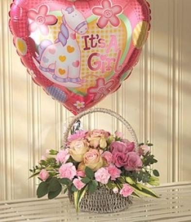 Pink Bundle Of Joy Balloon