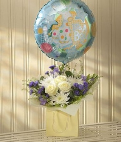 Blue Lullaby Balloon Gift