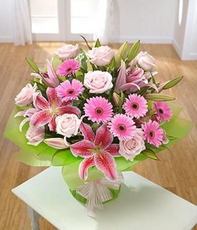 Lilies, Roses & Gerbera