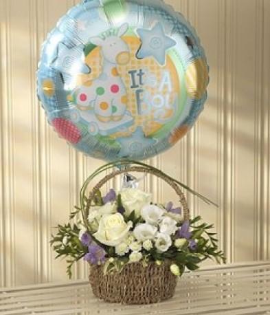 Blue Bundle Of Joy Balloon
