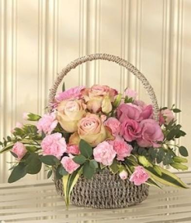 Pink Bundle Of Joy Basket