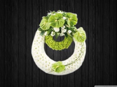 White & Lime Wreath
