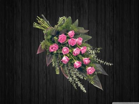 12 Pink Rose Sheaf - SHE12