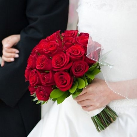 Red Rose Bridal Posy