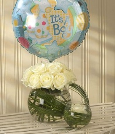 Mother & Baby Boy Balloon