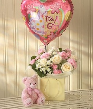 Pink Lullaby Balloon Teddy
