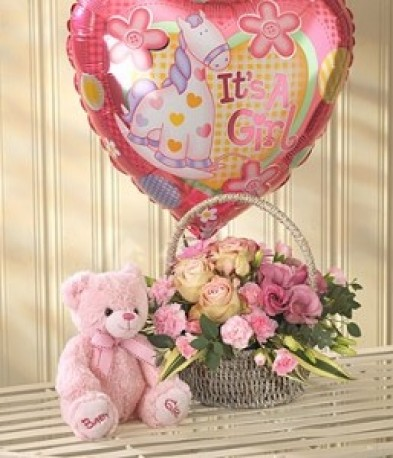 Pink Bundle Balloon Teddy