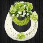 White & Lime Wreath