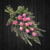 12 Pink Rose Sheaf - SHE12