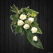 6 White Roses Sheaf - SHE13