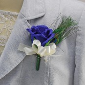 Blue Rose Buttonhole